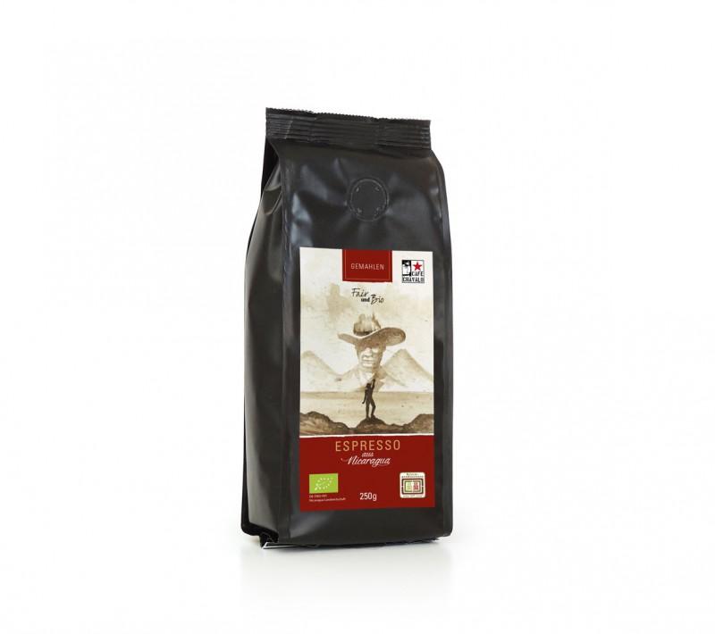 Espresso de Nicaragua - gemahlen