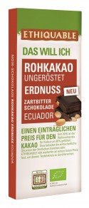 Noir-Schokolade Rohkakao Erdnuss 70% Ecuador