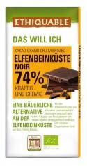 Noir 74% Kakao Elfenbeinküste, 100g