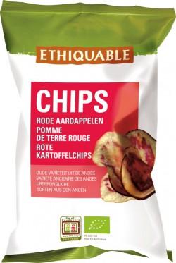 Rote Kartoffelchips, 100g